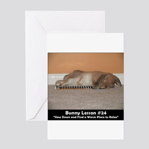 Bunny Lesson #24 Greeting Cards