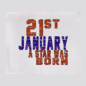 21 January Birthday Designs Throw Blanket