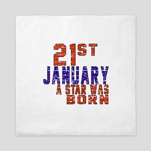 21 January Birthday Designs Queen Duvet
