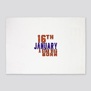 16 January Birthday Designs 5'x7'Area Rug