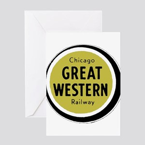 Great Western Railway logo Greeting Cards