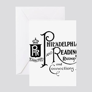 Reading Railroad Logo Original Greeting Cards