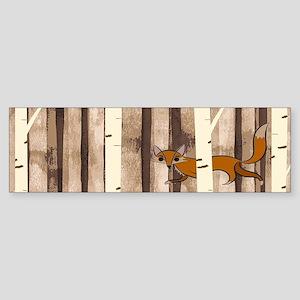 Fox and Bird Bumper Sticker