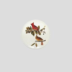 Cardinal Grosbeak Vintage Audubon Birds Mini Butto
