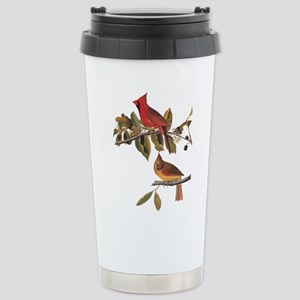 Cardinal Grosbeak Vintage Audubon Birds Travel Mug