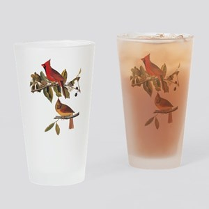 Cardinal Grosbeak Vintage Audubon Birds Drinking G