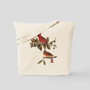 Cardinal Grosbeak Vintage Audubon Birds Tote Bag