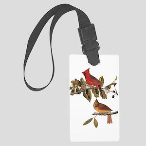 Cardinal Grosbeak Vintage Audubon Birds Luggage Ta