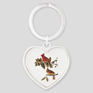 Cardinal Grosbeak Vintage Audubon Birds Keychains