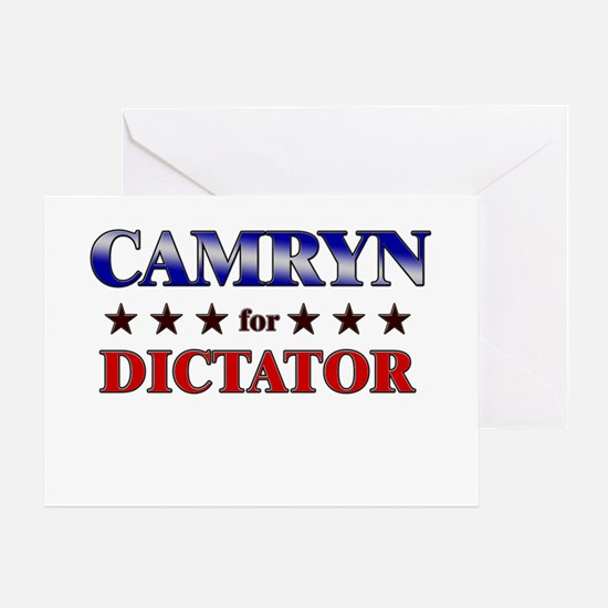 CAMRYN for dictator Greeting Card