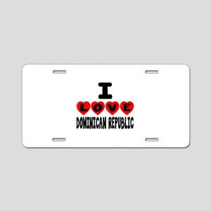 I Love Dominican Republic Aluminum License Plate