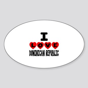 I Love Dominican Republic Sticker (Oval)