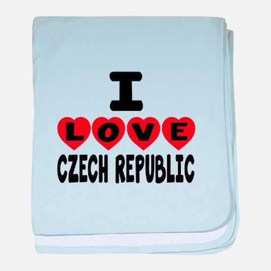 I Love Czech Republic baby blanket