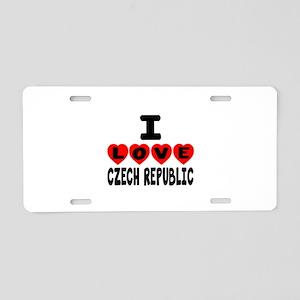 I Love Czech Republic Aluminum License Plate