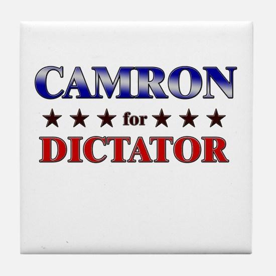 CAMRON for dictator Tile Coaster