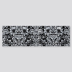 DAMASK2 BLACK MARBLE & GRAY MARBL Sticker (Bumper)
