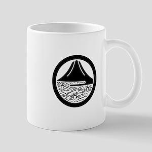 Mt.Fuji and sailing ships in circle Mug