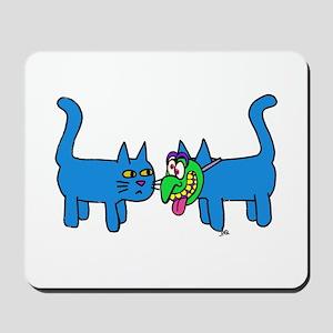 kitty mask Mousepad
