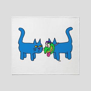 kitty mask Throw Blanket