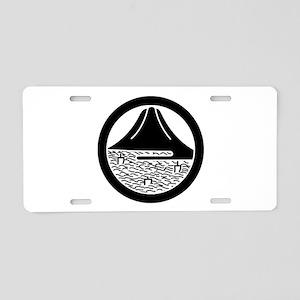 Mt.Fuji and sailing ships in circle Aluminum Licen