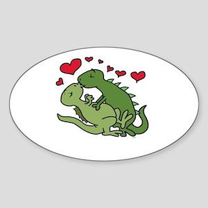 Kissing Dinosaurs Sticker
