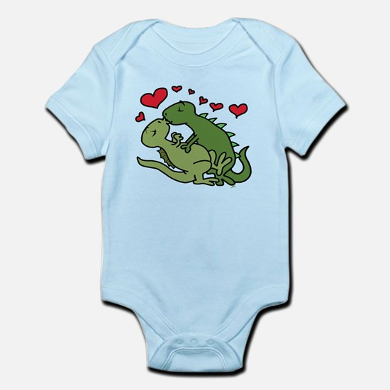 Kissing Dinosaurs Body Suit