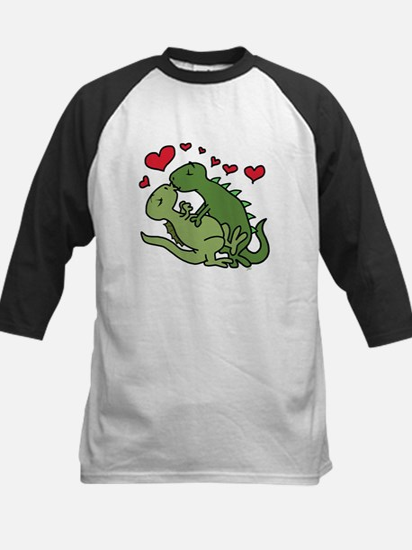 Kissing Dinosaurs Baseball Jersey