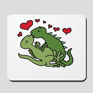 Kissing Dinosaurs Mousepad