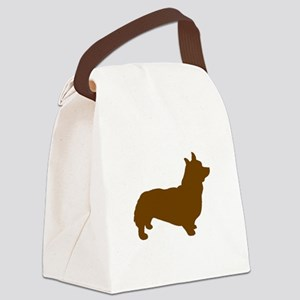 Corgi Brown 1C Canvas Lunch Bag