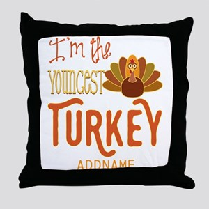 Youngest Sibling Gifts Personalized Throw Pillow