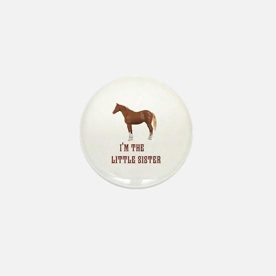 Im the little sister horse design Mini Button