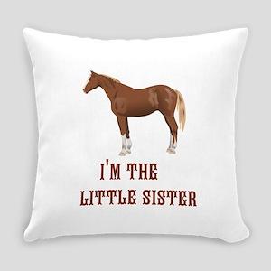 Im the little sister horse design Everyday Pillow