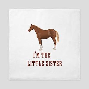 Im the little sister horse design Queen Duvet