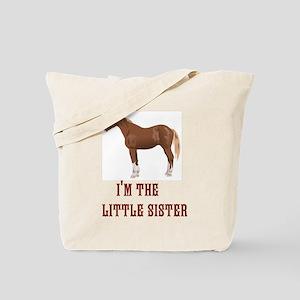Im the little sister horse design Tote Bag