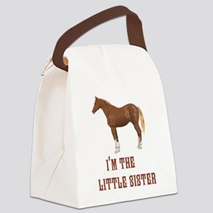 Im the little sister horse design Canvas Lunch Bag