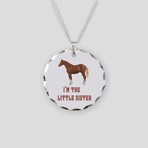Im the little sister horse design Necklace