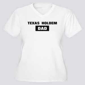 TEXAS HOLDEM Dad Women's Plus Size V-Neck T-Shirt