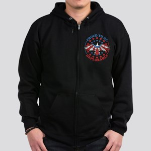 Proud To Be Deplorable Anti Clin Zip Hoodie (dark)