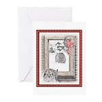 Keeshond Christmas Winte Greeting Cards (Pk of 20)