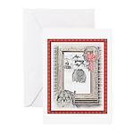 Keeshond Christmas Winte Greeting Cards (Pk of 10)
