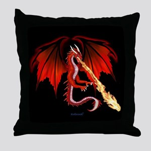 Devil Dragon Throw Pillow