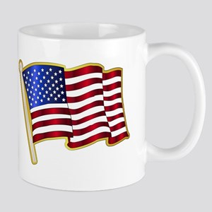 Stars And Stripes Pin Padge Mugs