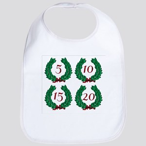 Number Isolated Wreaths Bib