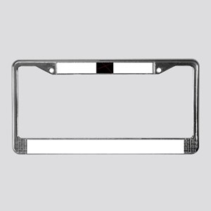 Red Lases Crossing Background License Plate Frame