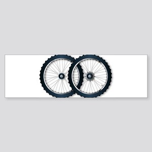 Two Bicycle Wheels Bumper Sticker