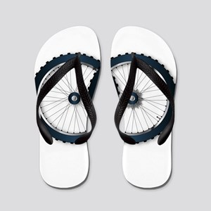 Two Bicycle Wheels Flip Flops