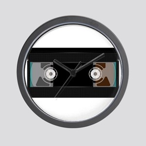 Black Video Cassette Wall Clock