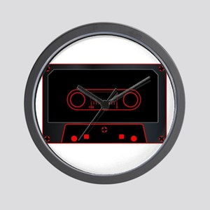 Black Audio Cassette Wall Clock