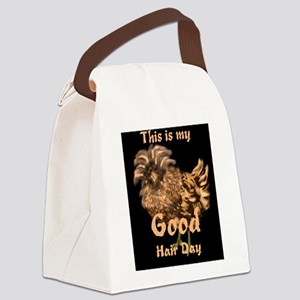 Good Hair Day Rooster Canvas Lunch Bag