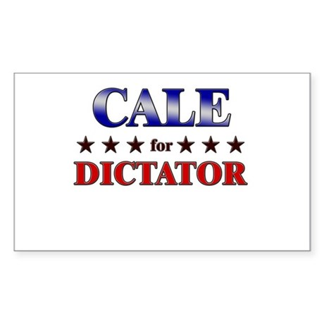 CALE for dictator Rectangle Sticker